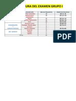 Estructura Del Examen Grupo i