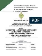 These - Politique d Efficacite Energetique en Algerie