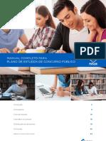 Manual Plano Estudos Concurso