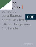 (Oxford Studies in Comparative Syntax) Lena Baunaz, Liliane Haegeman, Karen de Clercq, Eric Lander-Exploring Nanosyntax-Oxford University Press (2018)