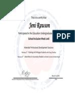 inclusion week certificate