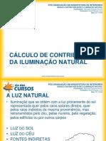 Cálculo de Contribuição Da Iluminação Natural