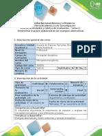 Guía de Actividades y Rúbrica de Evaluación -Tarea 2 - Determinar Impacto Ambiental de Las Energías Alternativas