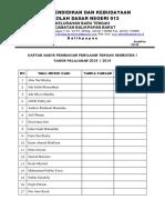 Daftar Hadir Pembagian Penilaian Tengah Semester i