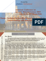 Nanotechnology Conference 2019 Rome Brochure