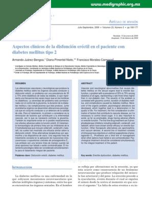 disfunción eréctil y folletos de diabetes