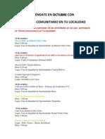 programación Centro Comunitario en tu Localidad