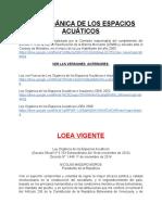 Ley Orgánica de Los Espacios Acuáticos..
