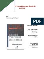 29PERRENOUD Philippe Cap3 Consecuencias Para El Trabajo Del Profesor
