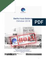 Rekapan Isu Hoax Oktober 2018