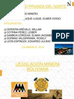 Legislación Minera - Bolivia