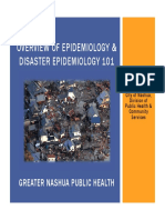 overview of epidemiology & Disaster Epidemiology