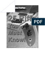 25 Riffs You Must Know