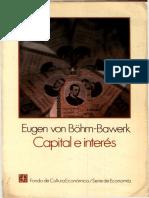 Böhm-Bawerk - Capital e Interés