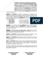 Contrato de Compra y Venta de Un Terreno Agricola Eligio Quiros Camacho