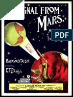 """A Signal From Mars"", music sheet"