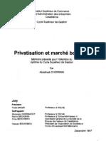 Privatisation et marché boursier