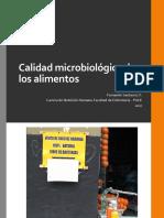 Calidad microbiológica de los alimentos