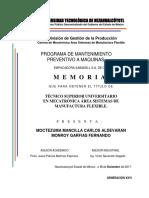 Programa de mantenimiento preventivo a maquinas