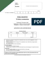 2016 VCE Philosophy Exam