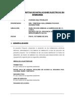 Memoria-Descriptiva - Inst. Electricas - Licencia de Construccion - Picasso