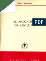 Wikenhauwer, Alfred - El Apocalipsis de San Juan