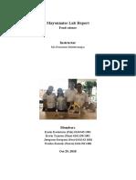 food science lab report