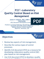 1305 - Laboratory Quality Control Based on Risk Management (1)