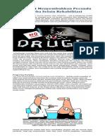 Cara Cepat Menyembuhkan Pecandu Narkoba Selain Rehabilitasi