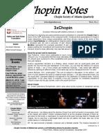 Chopin Notes. Chopin Society of Atlanta Quarterly
