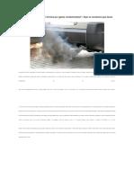 Rechazado en La Revisión Técnica Por Gases Contaminantes