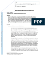 Enhancement in Sport, And Enhancement Outside Sport