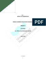 Modulo de Aprendizaje Ingles II 2018-i