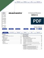 marantz sr6012 manual