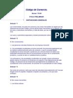 Código de Comercio Honduras