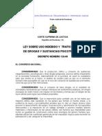 Ley Sobre Uso Indebido y Trafico Ilicito de Drogas y Sustancias Psicotropicas-Honduras