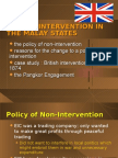The British Intervention Of Malaya