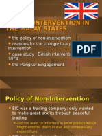 The British Intervention Of Malaya