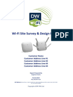 Sample Wi-Fi Site Survey