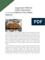 Material Sisa Waste Material