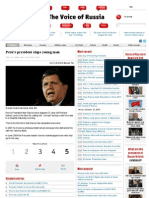 Peru's President Slaps Young Man- Voice of Russia