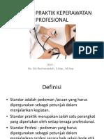 Standar Praktik Keperawatan Profesional
