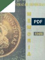 Banco Central de Honduras Memoria de 1998