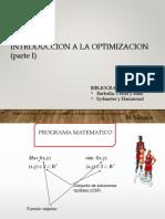 CAP 1. Introducción a La Optimización. Convexidad 1 COLGAR