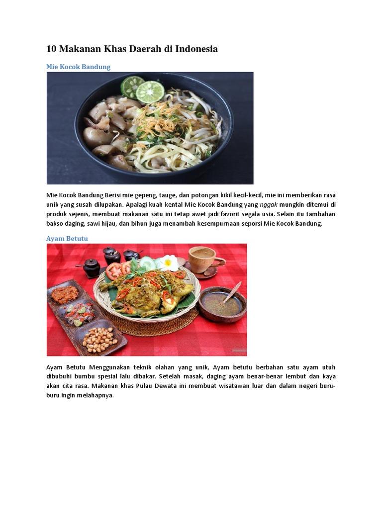 10 Makanan Khas Daerah Di Indonesia Mie Kocok Bandung