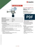 WÜRTH-Manómetro regulador