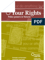 Your Rights - Police Powers in Victoria