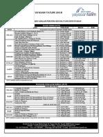 Jadual Pengajian YT 2018 [1 November 2018]