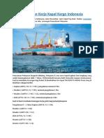 Lowongan Kerja Kapal Kargo Indonesia