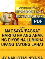 01 Entrance Song - Luwalhati Kay Kristong Hari